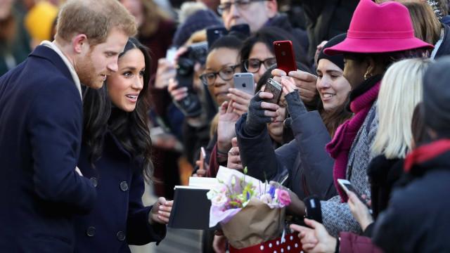 O primeiro evento real do príncipe Harry e Meghan Markle
