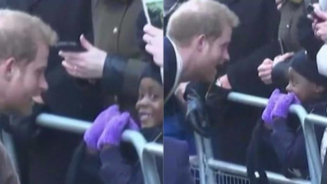 Príncipe Harry volta a brilhar em momento ternurento com criança