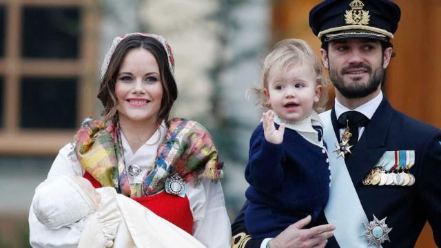 O pequeno príncipe Gabriel já foi batizado