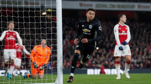 United vence Arsenal à boleia de Lingard antes da receção ao City