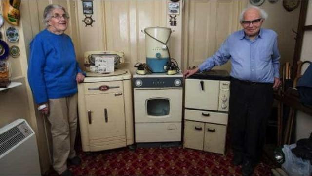 Acha-se poupado? Casal usou eletrodomésticos durante 50 anos