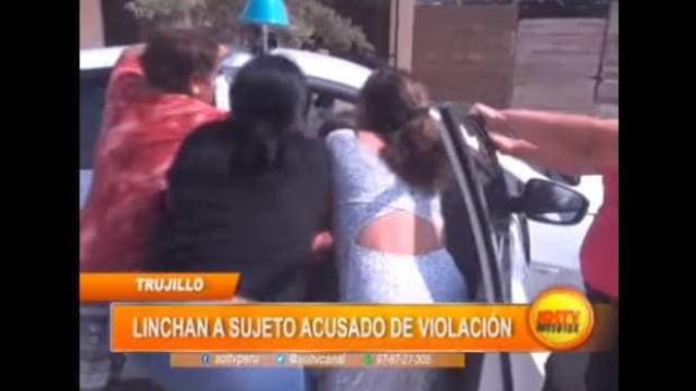 Mulheres agridem homem suspeito de abuso sexual de criança