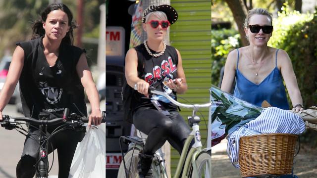Famosos que adoram andar de bicicleta