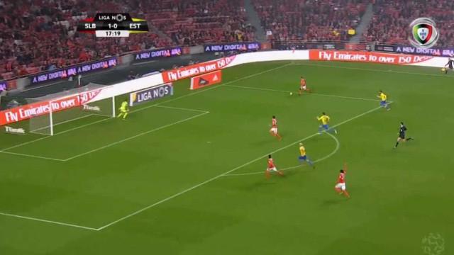 Salvio assistiu Jonas para o 2-0 do Benfica