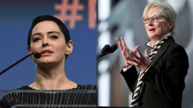 Rose McGowan 'revolta-se' com Meryl Streep nas redes sociais
