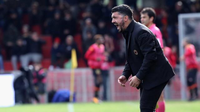 "Gattuso avisa Donnarumma: ""Faz o que te digo ou vou destruir-te"""