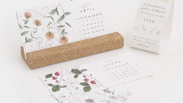 Este calendário dá 'vida' a plantas