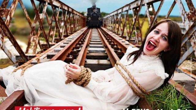 """""""Se houvesse TGV, ela sofria menos"""". Cartaz polémico gera indignação"""
