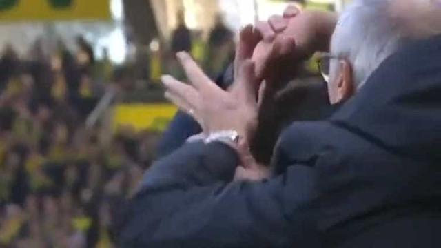 Ranieri foi expulso depois desta ação caricata