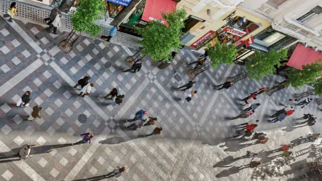 Centro de Madrid com sistema inédito de ruas pedonais de sentido único
