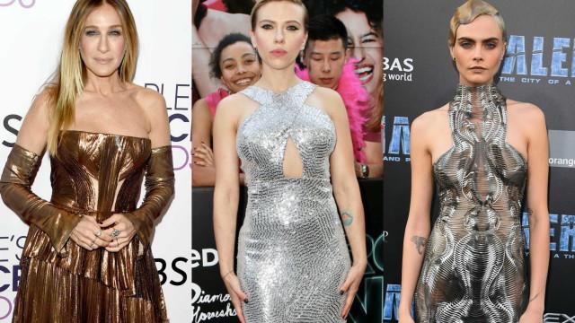 Moda: O estilo metálico das famosas
