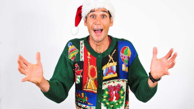 Entre já no espírito. Camisolas de Natal para miúdos e graúdos