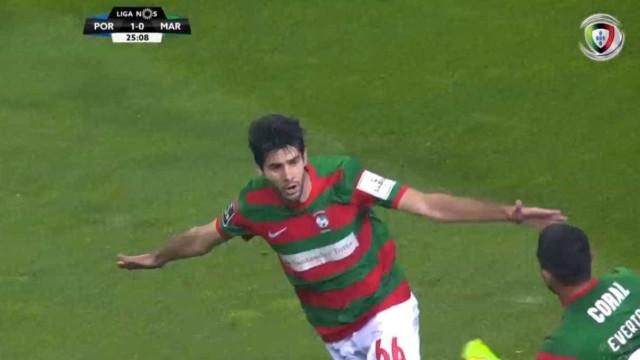 Reyes marcou e agora 'traiu' José Sá no empate do Marítimo