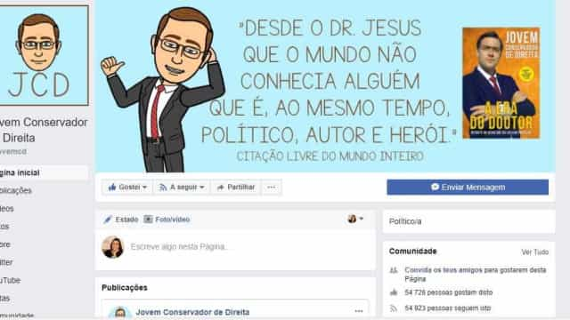 Página Jovem Conservador de Direita voltou ao Facebook