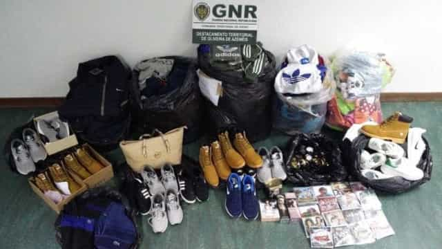 Mais de 300 artigos contrafeitos apreendidos pela GNR