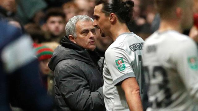 """Ibrahimovic revela última conversa com Mourinho: """"Escolha outro"""""""
