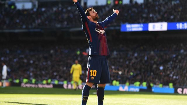 Estatística do El Clásico: Messi passou 83% do tempo a… andar
