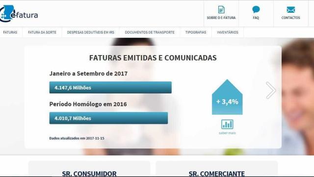Portal e-fatura levanta dúvidas sobre proteção de dados dos contribuintes