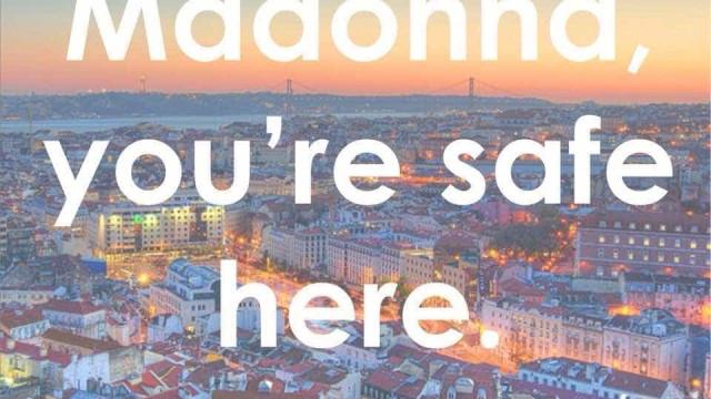 Madonna está a cantarolar por Lisboa e... a PSP garante que está segura