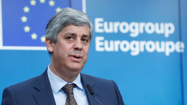 """Centeno já sente trabalho """"bastante exigente"""" de presidente do Eurogrupo"""