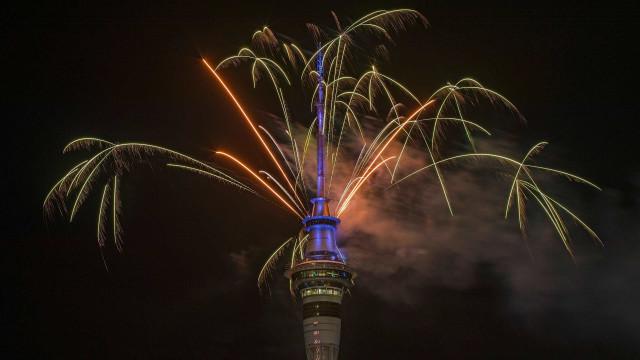 O ano novo acaba de chegar à Nova Zelândia