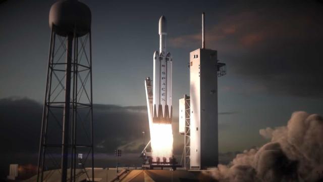 Vídeo mostra perspetiva aérea do (impressionante) foguetão da SpaceX