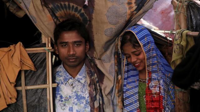 Reencontrar o amor num campo de refugiados: Um casamento Rohingya