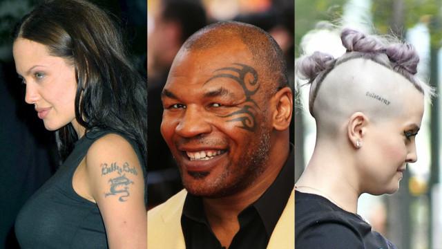 Conheça as tatuagens mais bizarras dos famosos