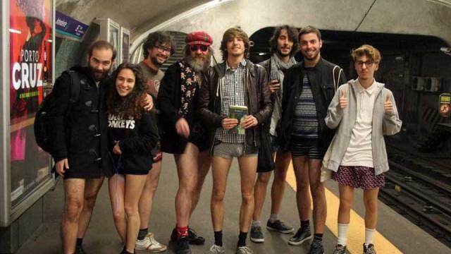 Com disposição para andar sem calças? Este domingo pode fazê-lo no Metro