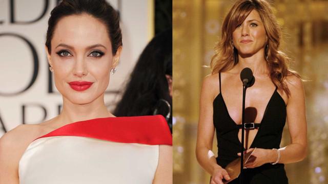 Ironia? Jennifer Aniston e Angelina Jolie 'juntas' nos Globos de Ouro