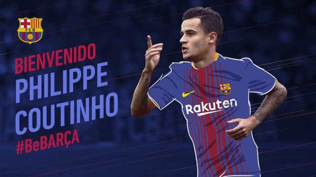 Oficial: Barcelona anuncia contratação de Coutinho