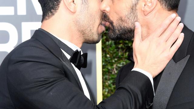 Na companhia do noivo, Ricky Martin revela que quer ter mais filhos