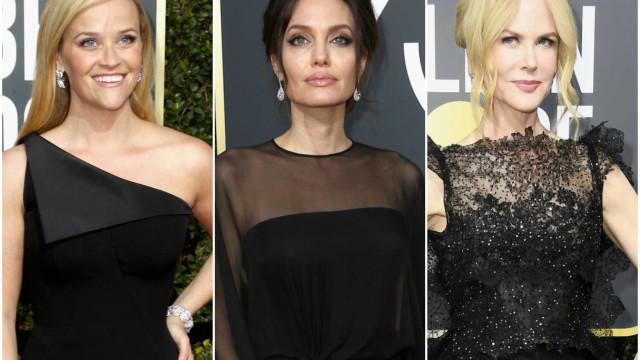 Globos de Ouro 2018: Todos os looks da noite em que o preto foi rei