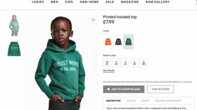 """H&M põe criança negra a vestir sweat com a palavra """"macaco"""""""