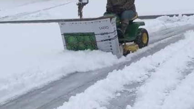 A solução engenhosa para limpar a neve que se tornou viral