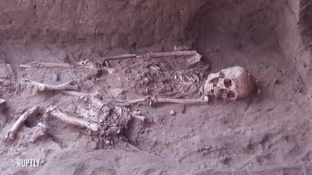 Restos humanos descobertos em salão de banquetes com 1.700 anos