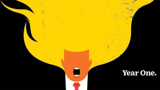 Nova capa da Time ilustra primeiro ano de Trump na Casa Branca