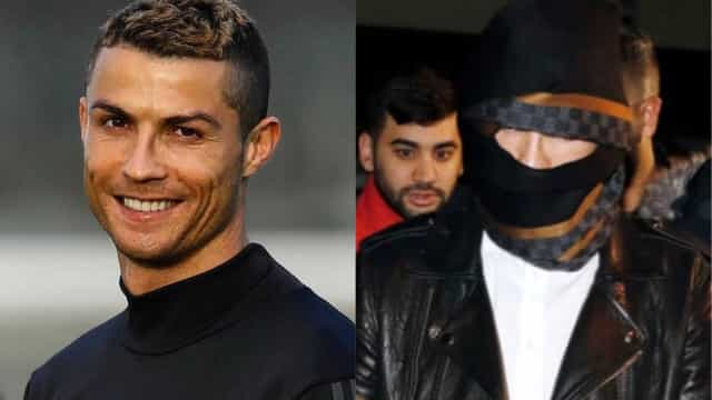 Cristiano Ronaldo surge de cara tapada. De que se esconde o jogador?