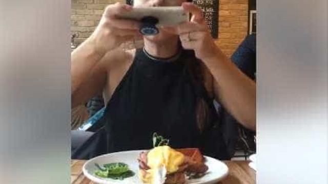 E se alguém destruísse o seu 'prato' antes da foto? Há quem o faça