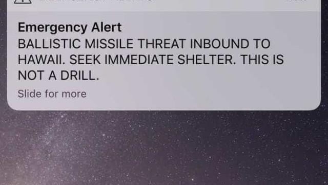 Havaianos receberam mensagem com aviso de míssil a caminho. Era falsa
