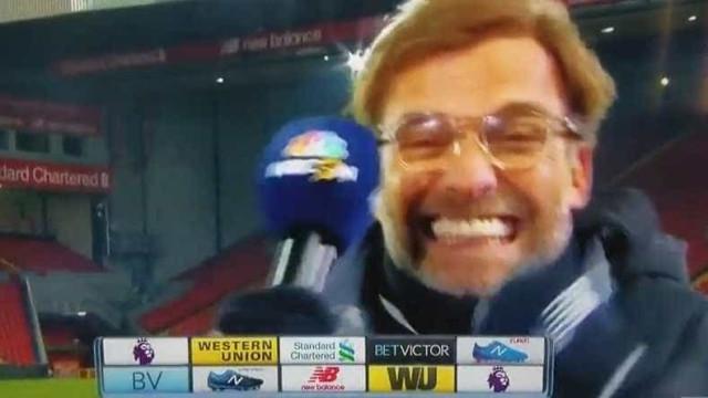 A reação curiosa de Jurgen Klopp na análise à vitória sobre o Man. City