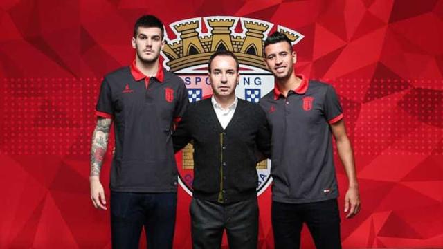 Sp. Braga anuncia dupla de reforços com Bruno de Carvalho pelo meio