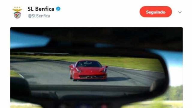 Eis o Ferrari do Benfica, que foi apagado rapidamente