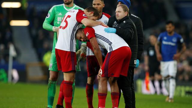 Rondón em lágrimas depois de partir perna a McCarthy
