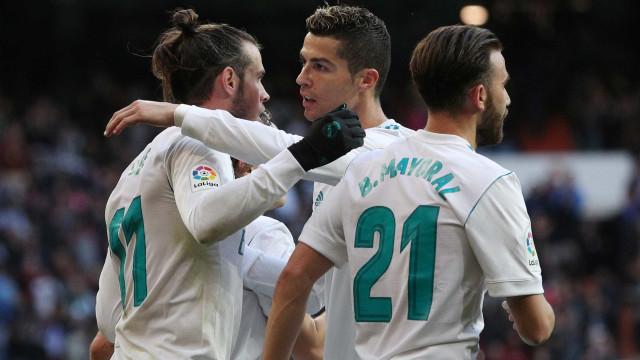 'Show' de Ronaldo e Bale na chuva de golos no Santiago Bernabéu