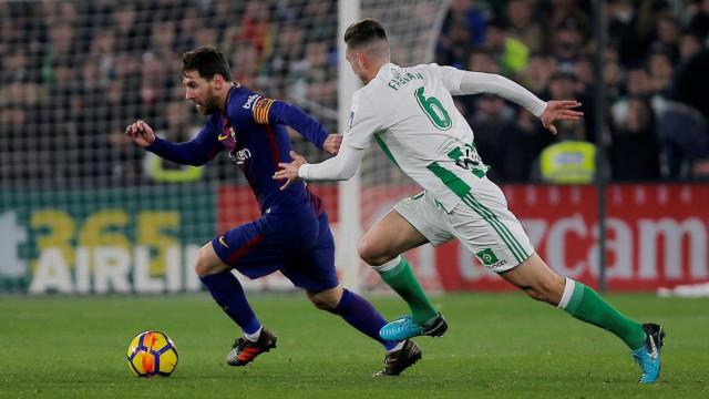 Esta jogada genial de Messi deixou em delírio os adeptos... do Betis