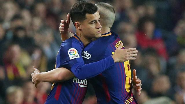 Barça vence Espanyol e segue para as 'meias' da Taça. Coutinho estreou-se