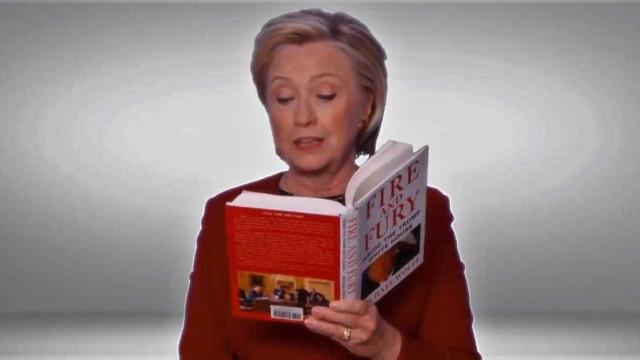 Hillary Clinton aparece nos Grammys... para ler livro de Trump