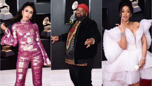 Grammys: Estes looks 'meteram medo ao susto'
