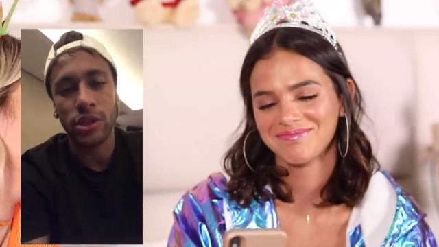 Bruna Marquezine emociona-se com vídeo surpresa de Neymar